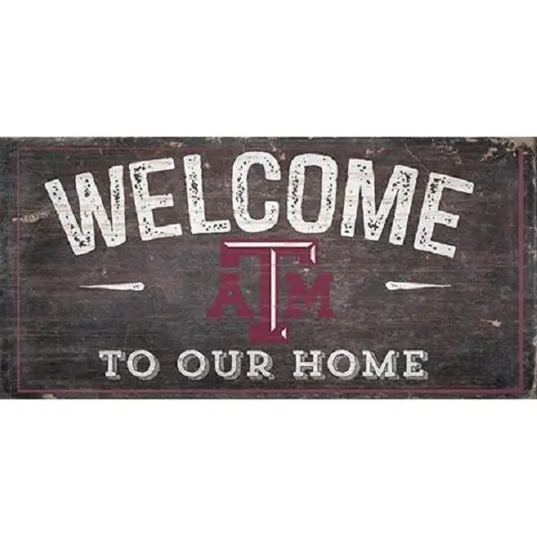 Texas A&M Welcome Sign