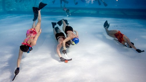 Underwater unusual sports