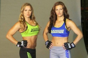 Ronda Rousey and Miesha Tate