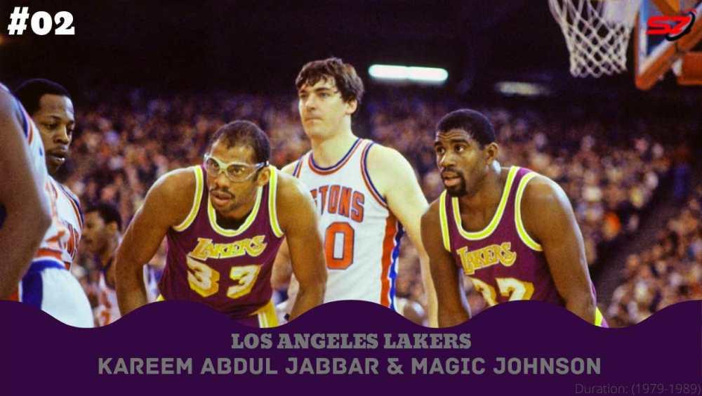 great duo Magic Johnson and Kareem Abdul Jabbar