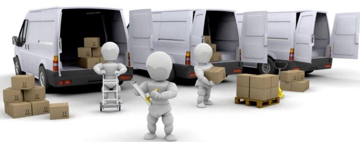 van and boxes