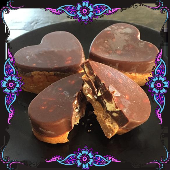 Nutsin Hyvät Suklaa-maapähkinä sydämet