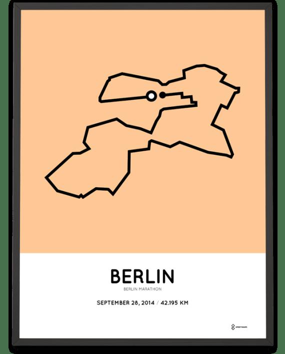 2014 Berlin marathon print