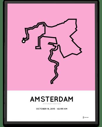 2015 Amsterdam marathon print