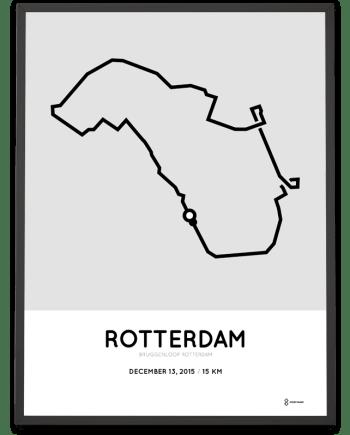 2015 Bruggenloop Rotterdam route poster