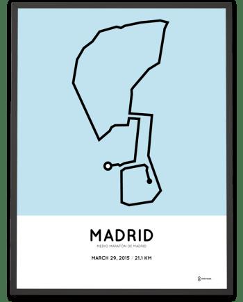2015 Madrid half marathon course print