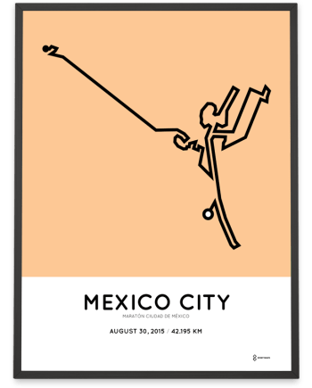 2015 Mexico City Marathon poster