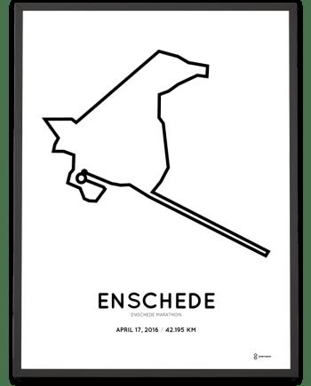 2016 Enschede marathon print