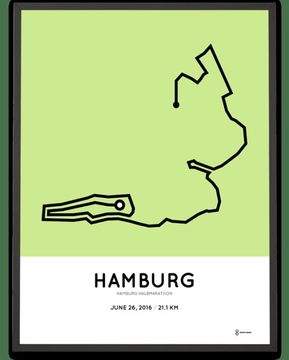 2016 Hamburg half marathon poster