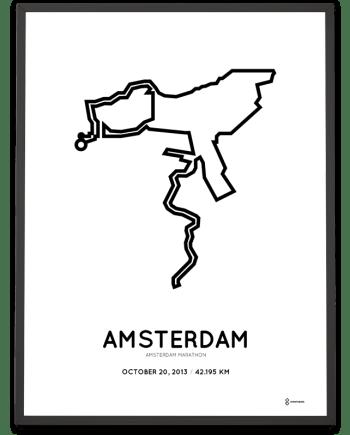 2013 Amsterdam marathon course