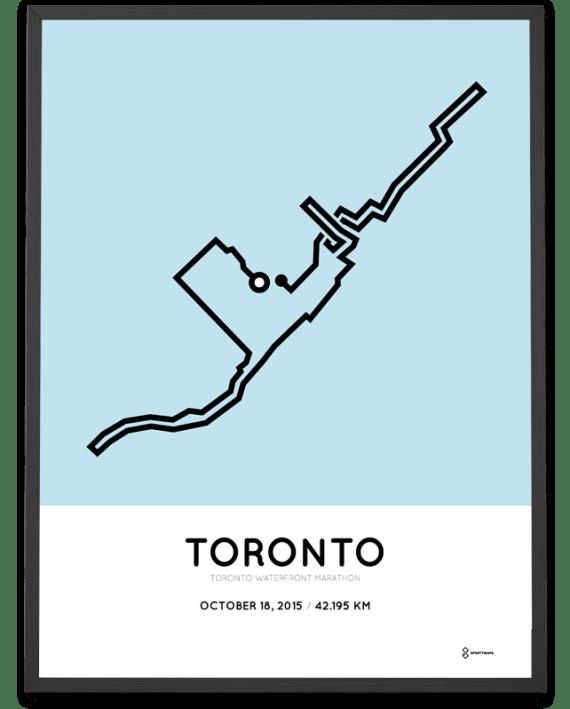 2015 Toronto waterfront marathon course print
