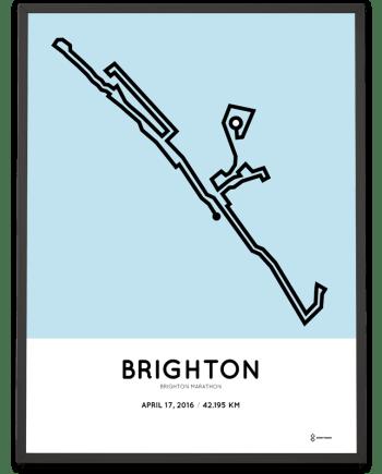 2016 Brighton marathon course print