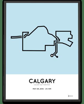 2016 Calgary half marathon artwork