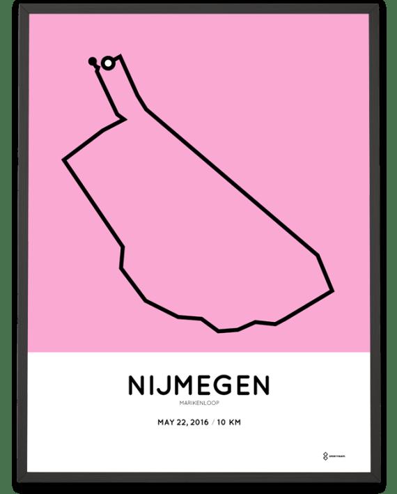 2016 Marikenloop 10km print