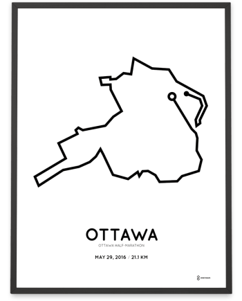 2016 Ottawa half marathon course print