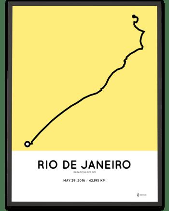 2016 Rio de Janeiro marathon course print