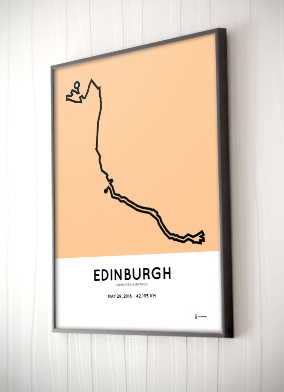 2016 Edinburgh marathon course