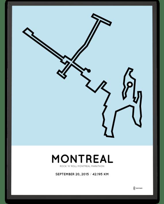 2015 Montreal marathon course poster