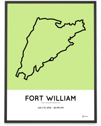 2016 Fort William marathon course poster