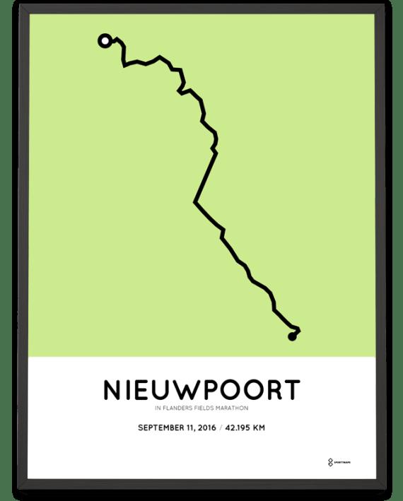 2016 in flanders fields marathon course print