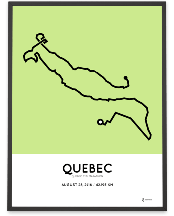 2016 Quebec City Marathon course print