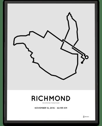 2016 richmond marathon course print