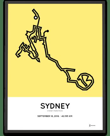 2016 Sydney Marathon course poster