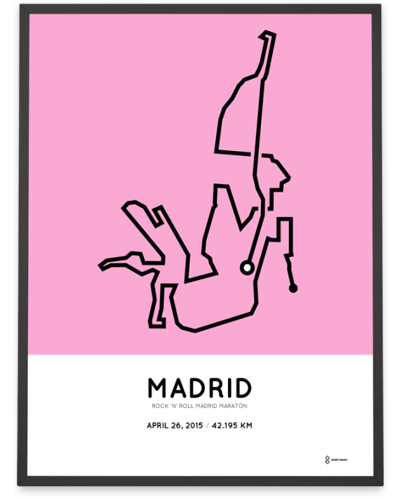 2015 madrid marathon course poster