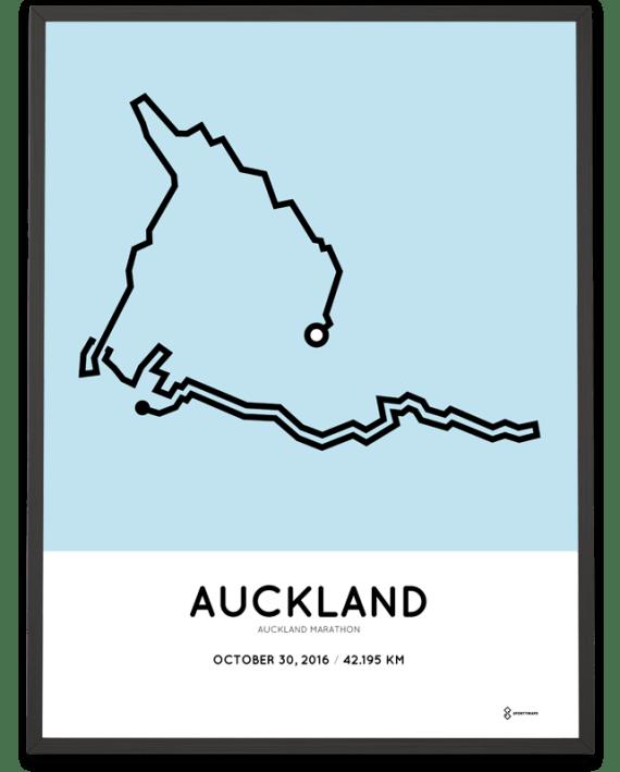 2016 auckland marathon course poster
