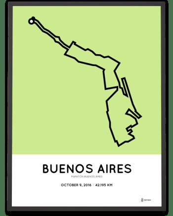 2016 buenos aires marathon course poster