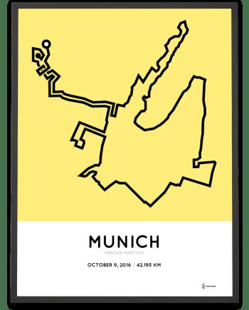 2016 munich marathon course print