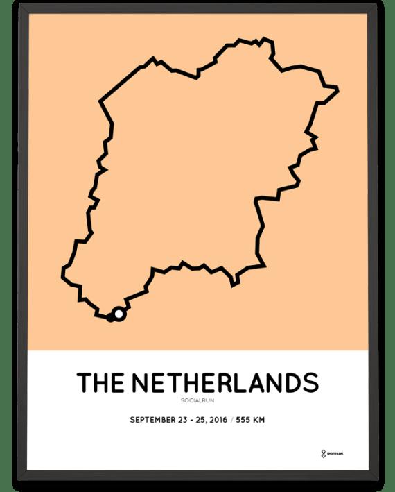 2016 socialrun parcours poster