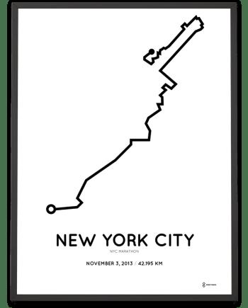 2013 nyc marathon course poster