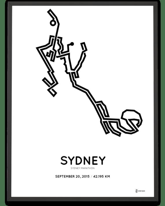 2015 Sydney marathon course poster