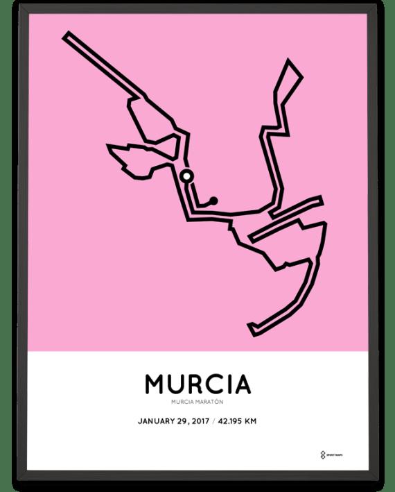 2017 Murcia marathon course poster