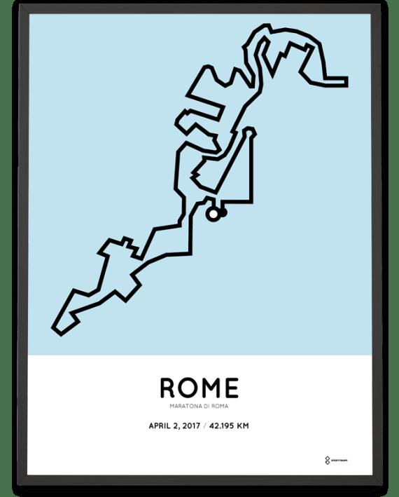 2017 Maratona di Roma course print