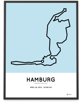 2012 Hamburg marathon parcours print