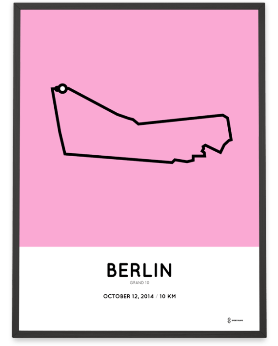 2014 Berlin grand 10km course poster