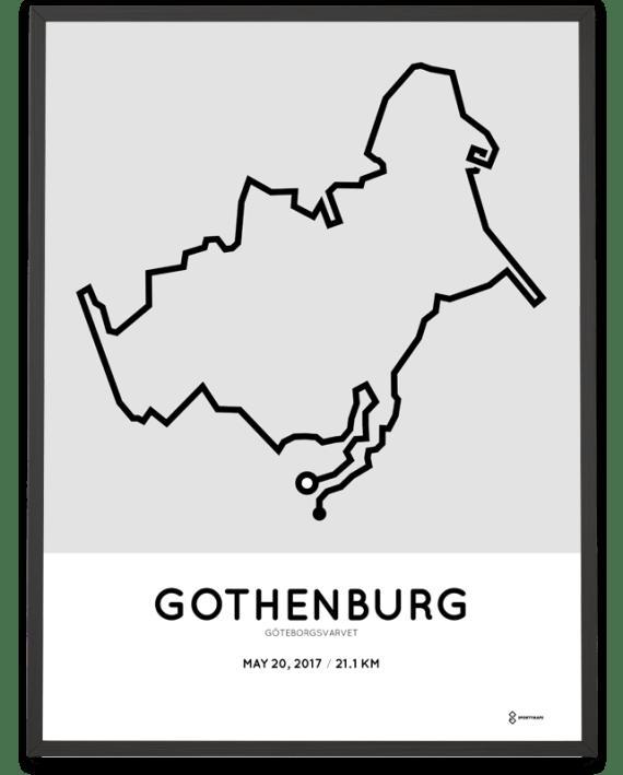 2017 Goteborgsvarvet course poster