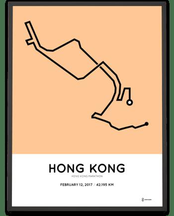 2017 Hong Kong marathon route print