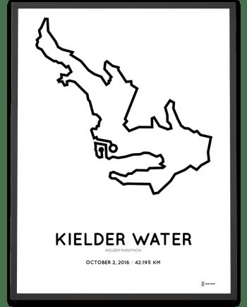 2016 Kielder marathon course poster