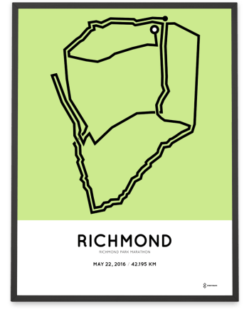 2016 Richmond park marathon course print