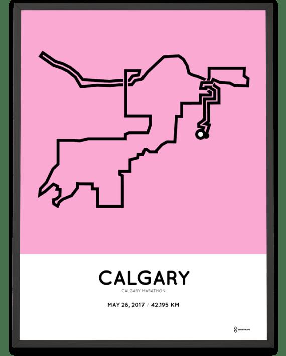 2017 Calgary marathon course artposter
