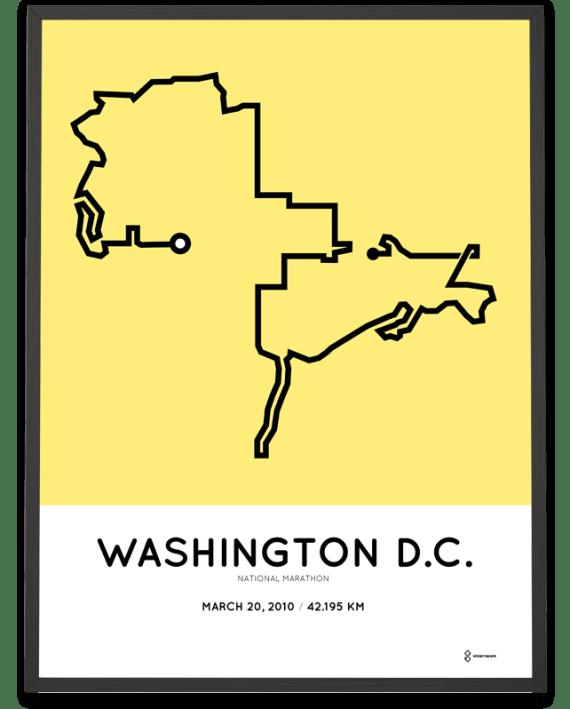 2010 National marathon course poster