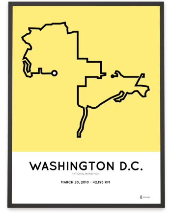 2010 National marathon course poster