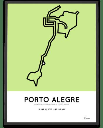 2017 Porto Alegre marathon course poster