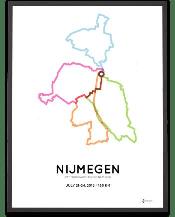 2015 Nijmeegse Vierdaagse 160km route poster