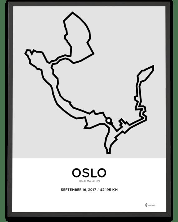 2017 Oslo maraton course poster