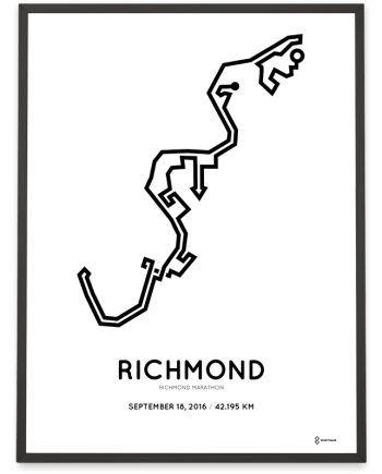 2016 Richmond runfest marathon course print