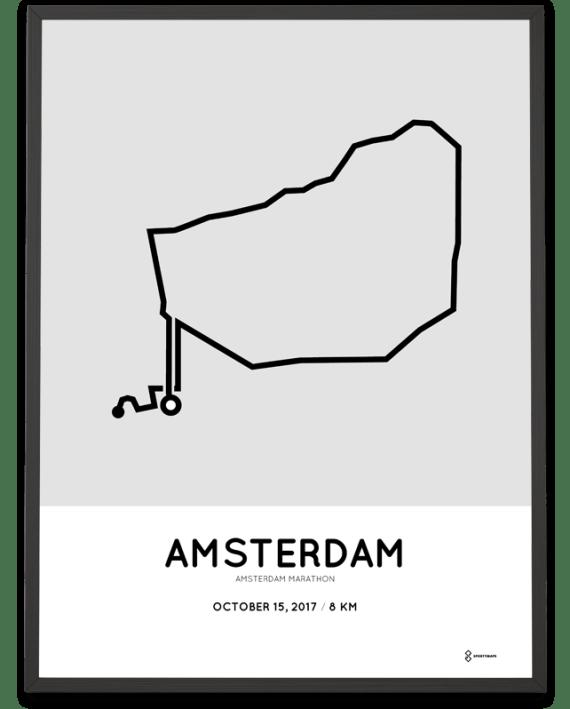 2017 Amsterdam marathon TCS 8km course poster